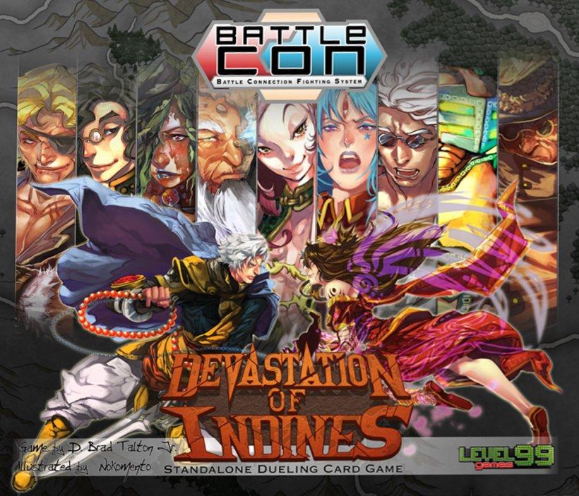 Copertina di BattleCON: Devastation of Indines, gioco di carte di combattimento