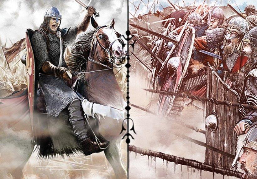Grafica delle carte Norman Cavalry and Saxon Shieldwall del gioco 1066, Tears to Many Mothers
