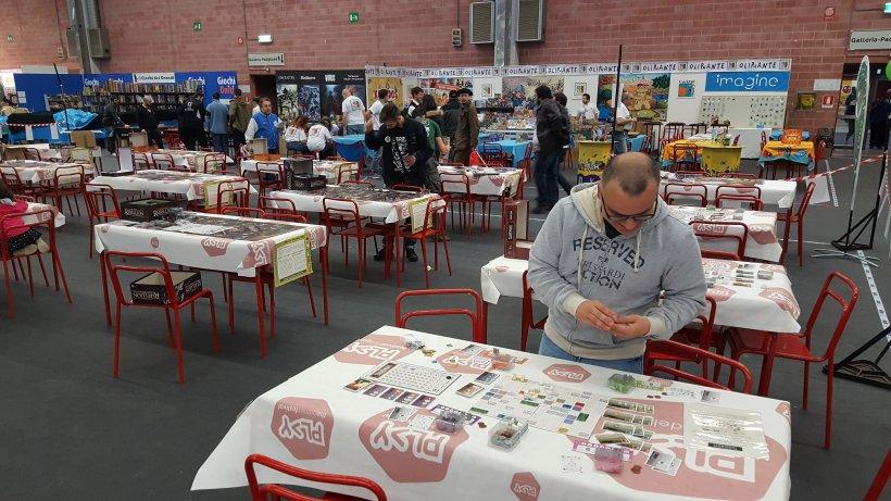 preparazione tavoli al Magnifico 2017, Play Modena