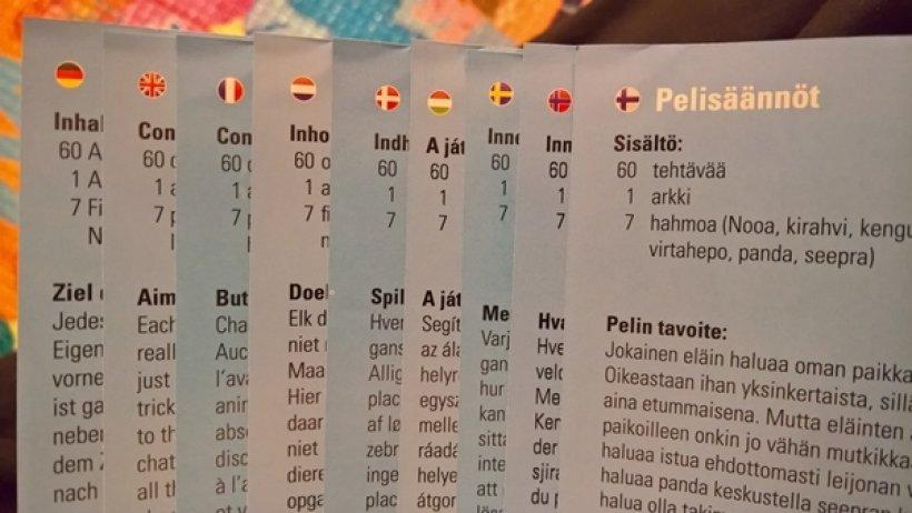Le regole di Archelino in più lingue, ma non in italiano