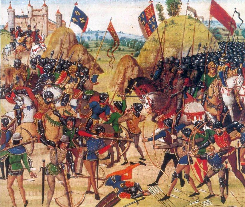 Battaglia di Crecy, di Jean Froissart