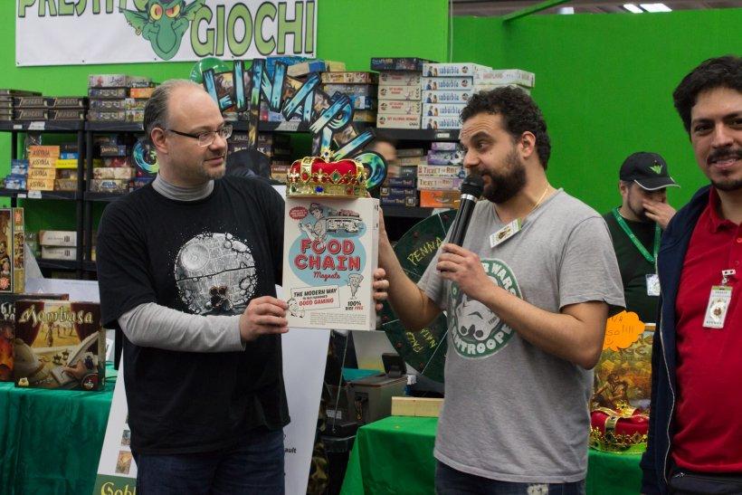 Premiazione Food Chain Magnate, vincitore Goblin Magnifico 2016