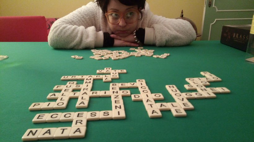 Indovinate come è finita questa partita di Bananagrams