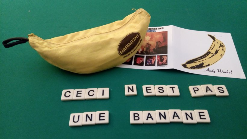 Bananagrams meets Magritte, Andy Warhol, The Velvet Underground & Nico