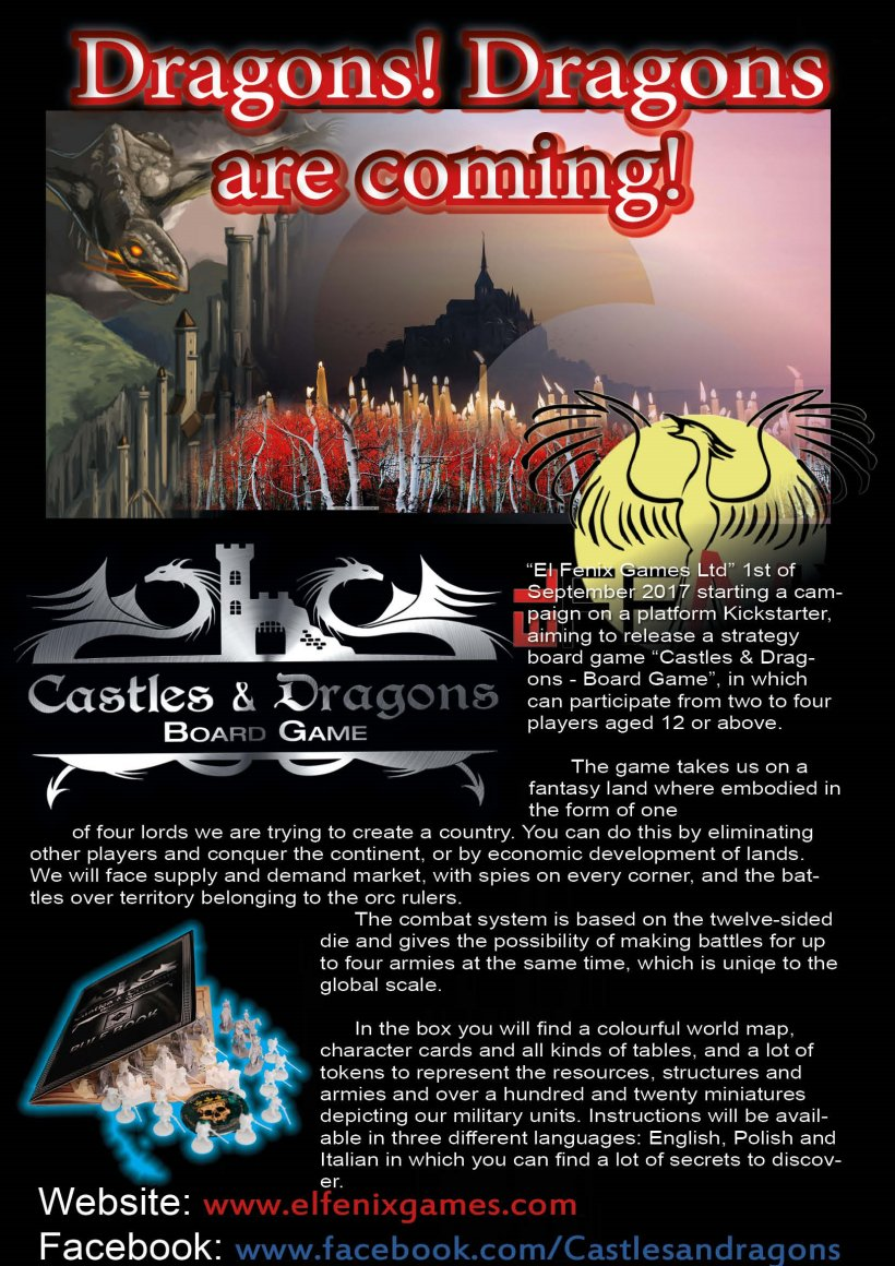 Castles & Dragons: banner stampa