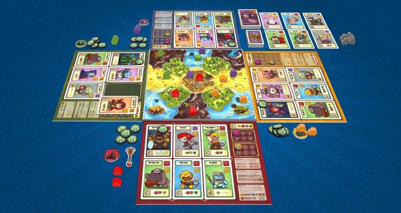 Gioco da tavolo Covil: The Dark Overlords intavolato per 4 giocatori