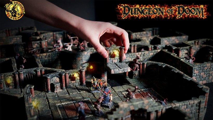 Dungeon of doom: accessori fantasy dipinti a mano