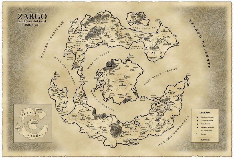 L'Era di Zargo: mappa