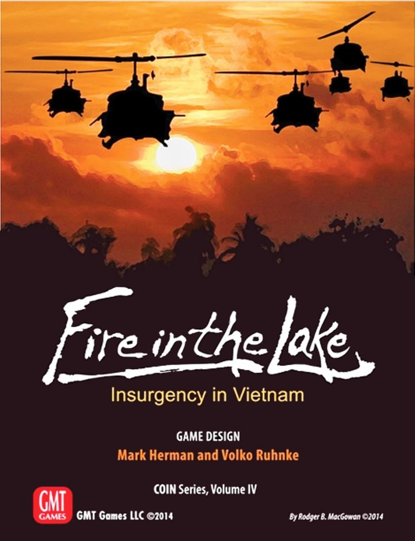 Copertina di Fare in the Lake, wargame sul Vietnam