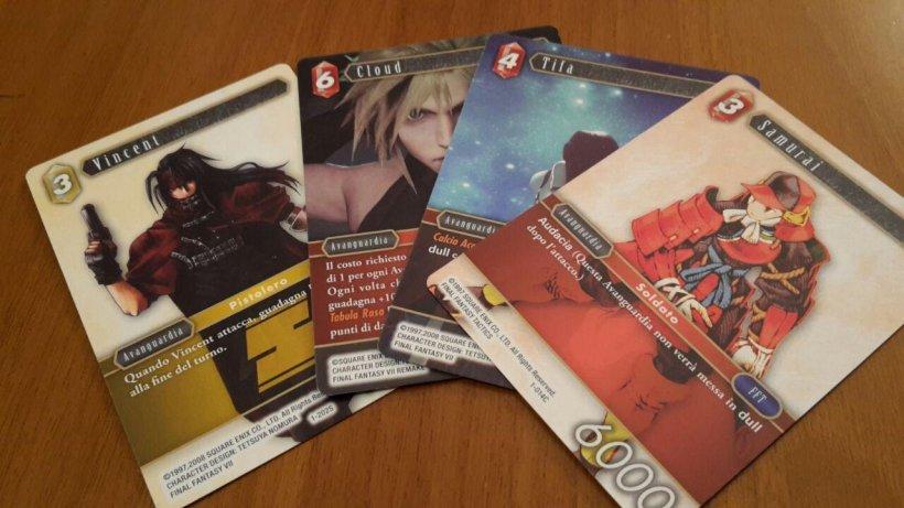 Carte del gioco di carte collezionabili di Final Fantasy