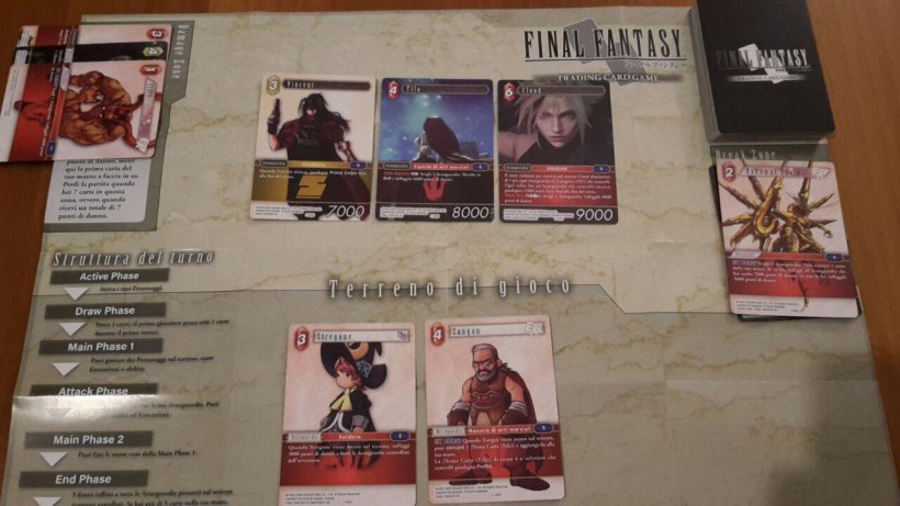 Final Fantasy Trading Card Game: setup partita