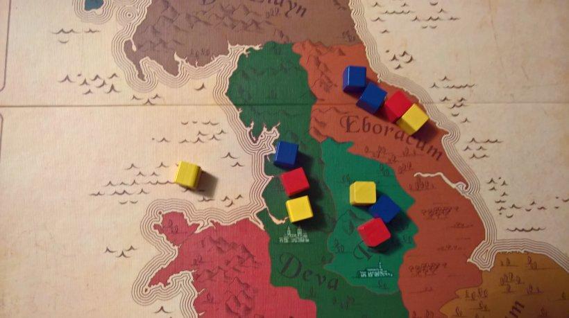 con la carta che scambia due cubi adiacenti e prelevando un giallo, il vostro supporto ha modificato la situazione a favore del blu, il vostro colore
