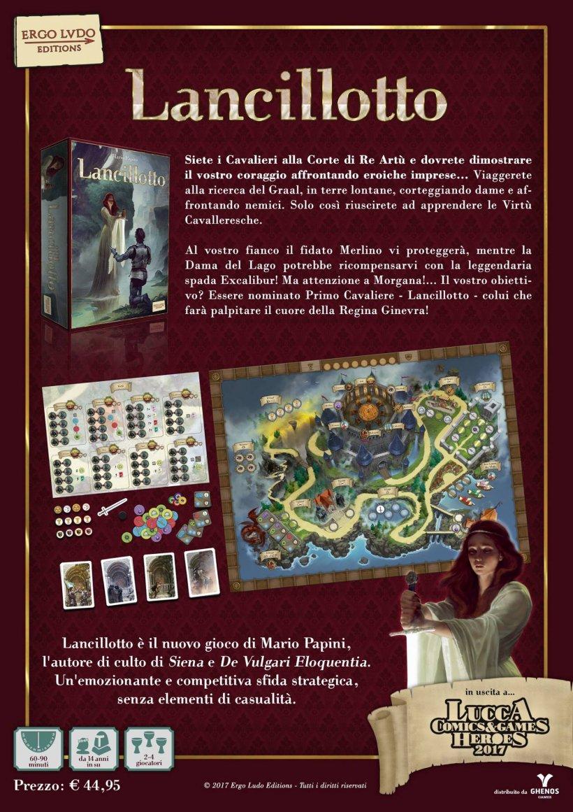 Lancelot: retro della scatola