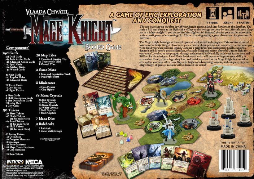 Mage Knight: retro della scatola