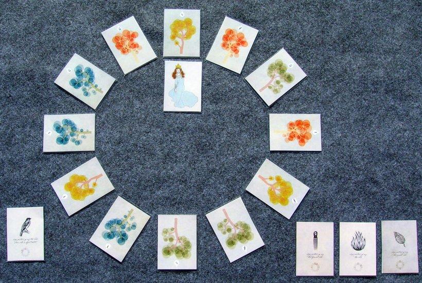 Setup del gioco da tavolo print and play Maiden in the Forest