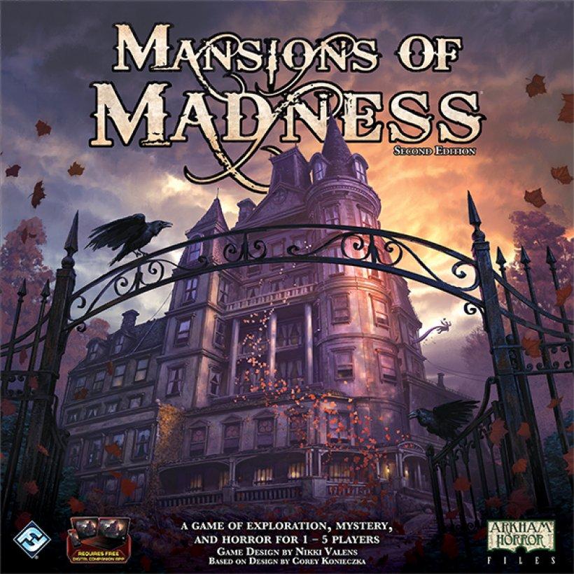 Copertina della seconda edizione di Mansions of Madness
