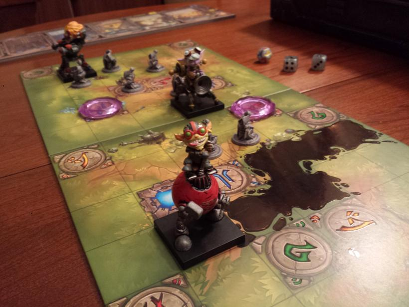 Mechs vs Minions: partita in corso