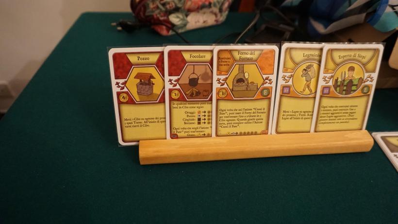 Carte giocate durante la partita di Agricola