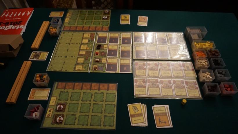 Fine setup di una partita a due giocatori di Agricola