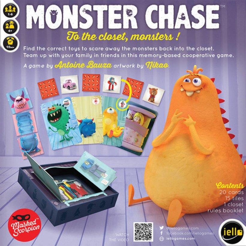 Monster Chase retro della scatola