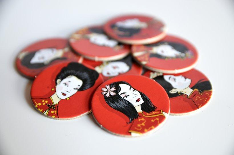 Tessere Geisha del gioco di Bruno Cathala Okiya