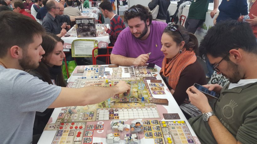 Partita in corso a Great Western Trail al Goblin Magnifico di Play 2017