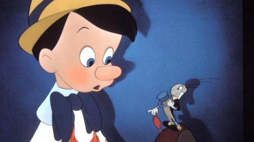 Pinocchio e il Grillo Parlante, nel celebre cartone Disney