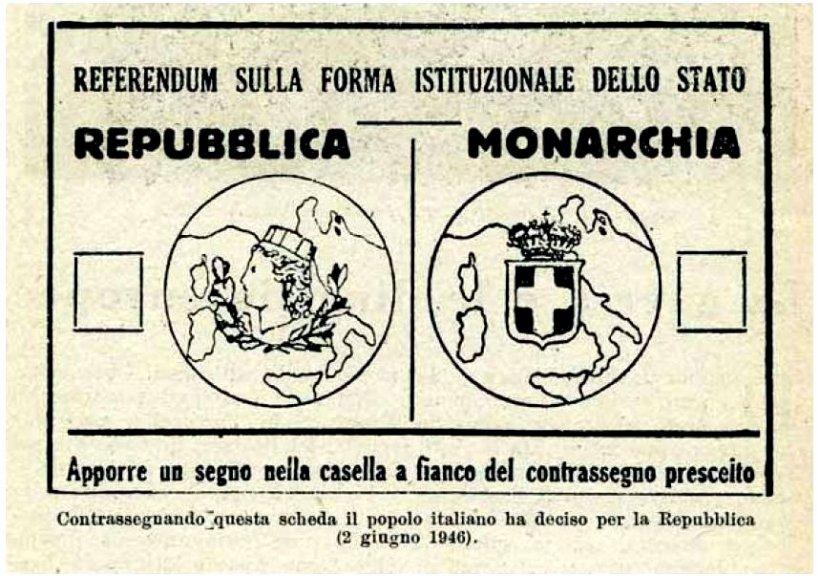 scheda referendum repubblica vs monarchia