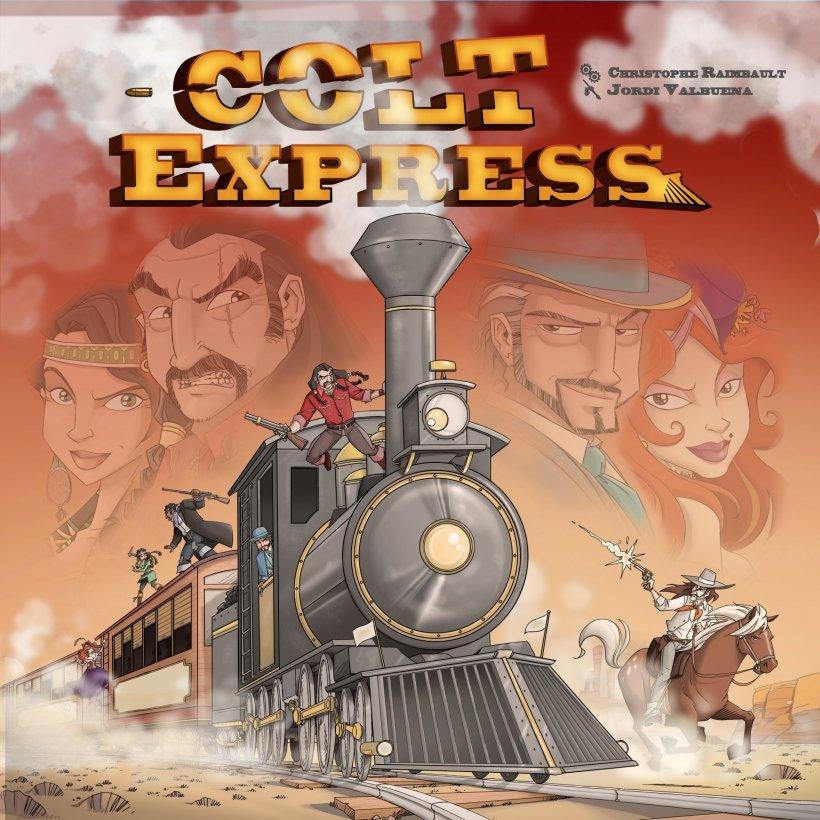 Artwork del gioco da tavolo Colt Express