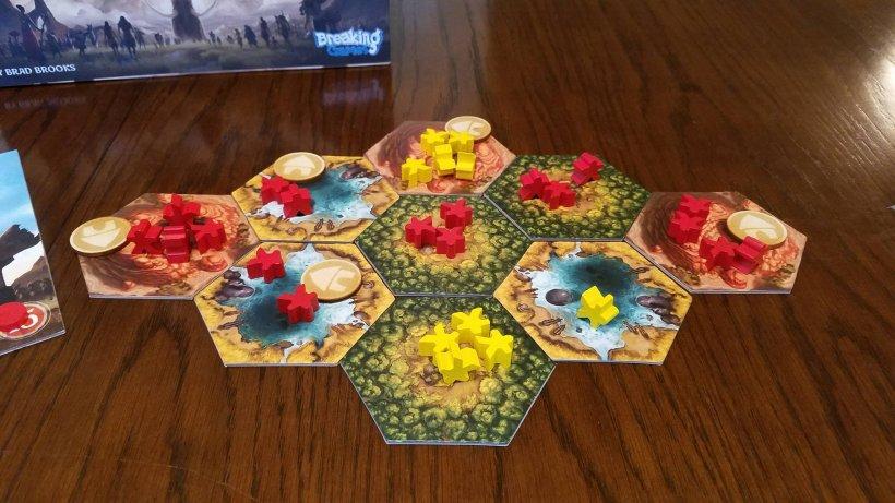 Gioco da tavolo Rise of tribes: immagine di una partita.