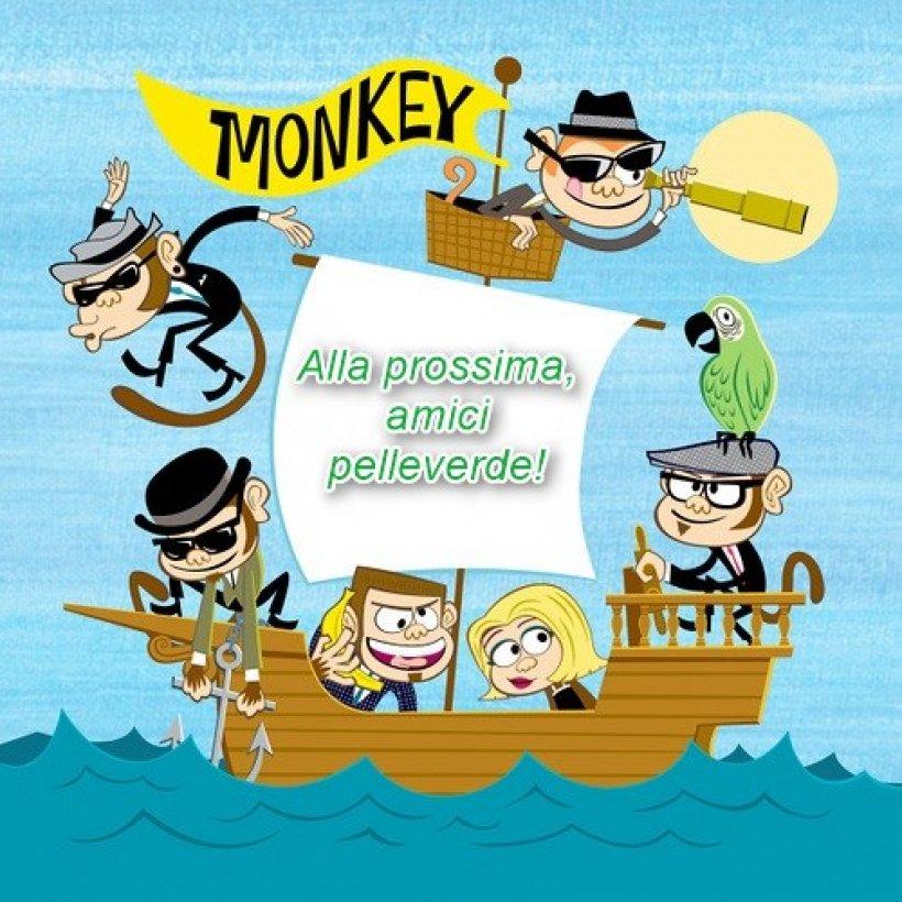 Scimmie al mare