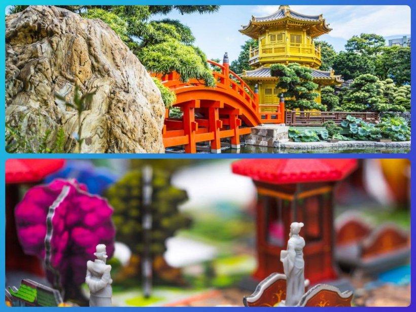 Nan Lian Garden, Hong Kong e dettaglio di partita in corso
