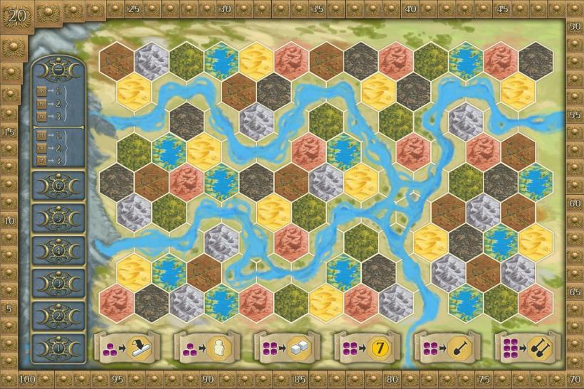 Tabellone gioco Terra Mystica
