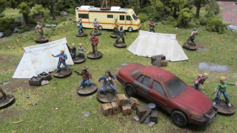 Attacco al campeggio in The walking dead: all out ear