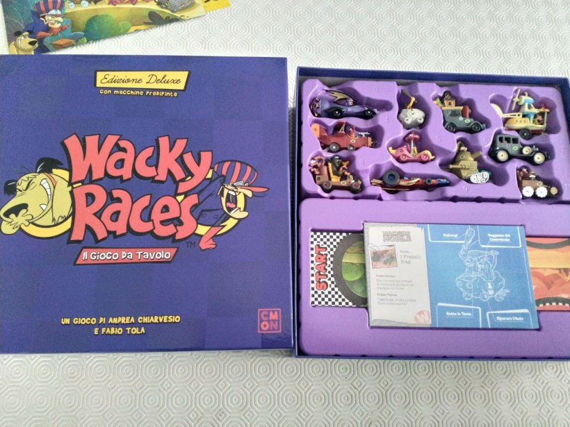 Wacky Races: materiali