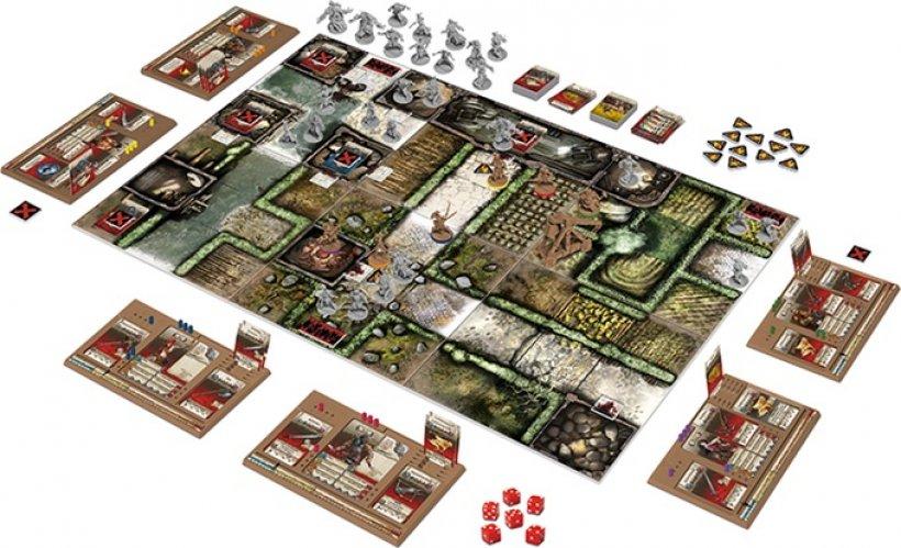 Setup per 6 giocatori di Zombicide: Green Horde