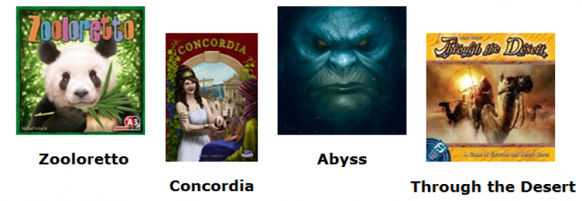 Zooloretto, Concordia, Abyss, Through the Desert