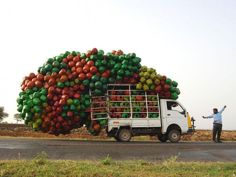 overloaded truck