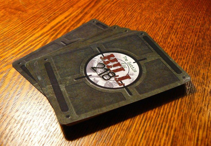 The battle for Hill 218, mazzo di carte di questo gioco per due