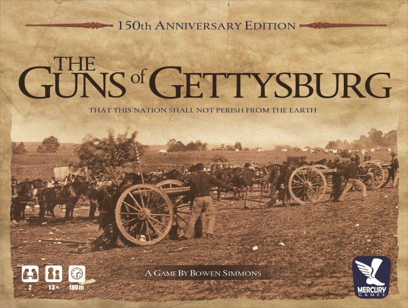 Copertina del gioco The Guns of Gettysburg, di Bowen Simmons