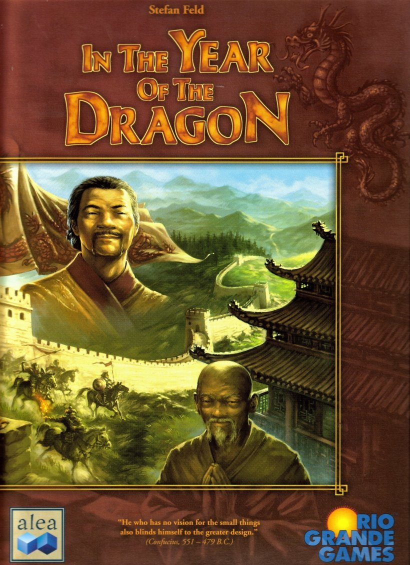 Copertina del gioco in scatola In the Year of the Dragon di Stefan Feld