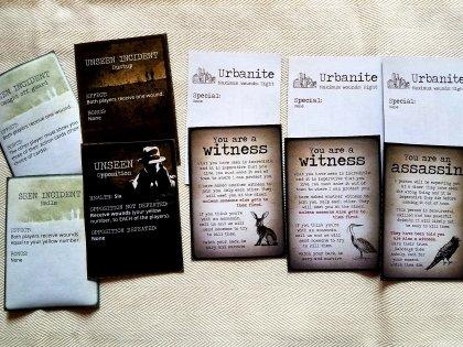 Dettaglio carte evento e carte personaggio