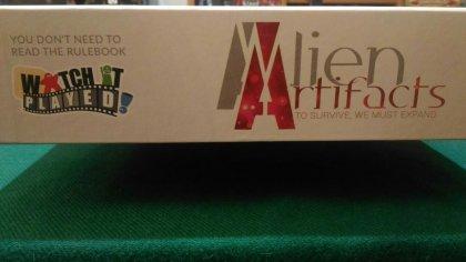 alien artifacts lato scatola