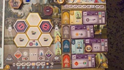 Anachrony: fine partita del giocatore giallo