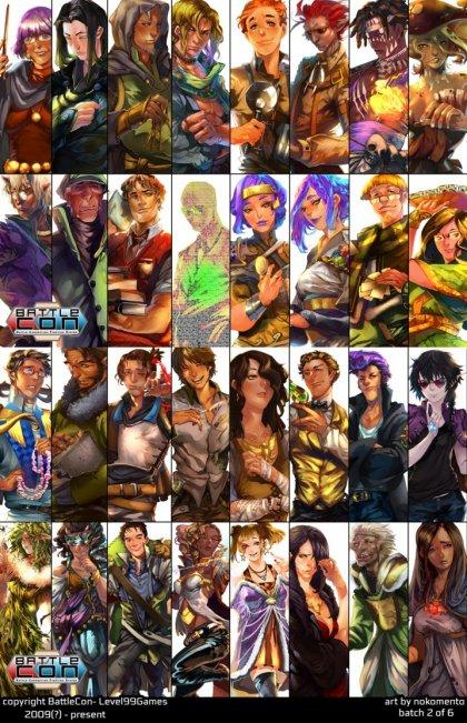 BattleCon: alcuni personaggi
