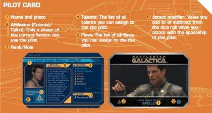 Battlestar Galactica Starship Battles carta pilota