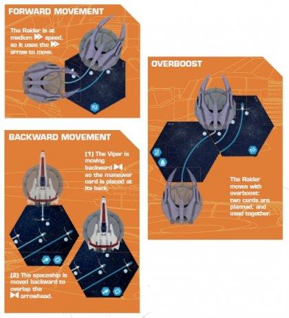 Battlestar Galactica Starship Battles esempi movimento
