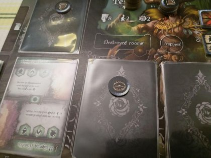 Black Rose Wars: plancia con carte