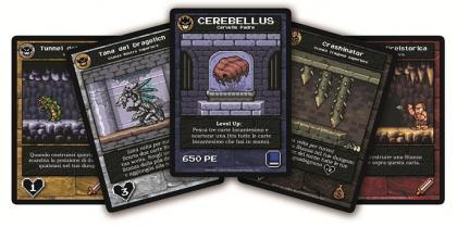 Componenti di Boss Monster: le carte
