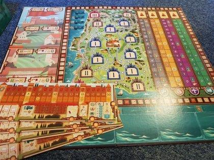 Coimbra tabellone e plance giocatori